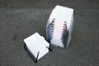 ローラーバケット底面斜め型(白色)